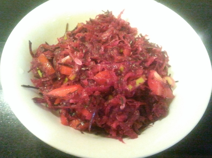 Raw Beetroot & Arame Salad